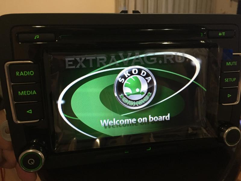 RCD 510 для Skoda зелёная подсветка и меню для RAPID, OCTAVIA A5, FABIA